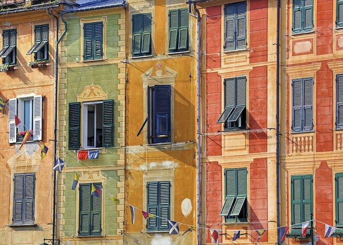 Portofino Greeting Card featuring the photograph Windows Of Portofino by Joana Kruse