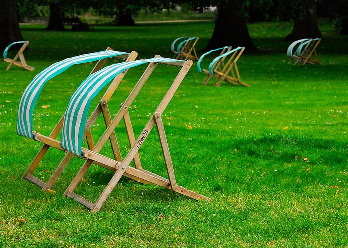 Lawn Chairs Greeting Card featuring the photograph Windy Chairs by Harry Spitz