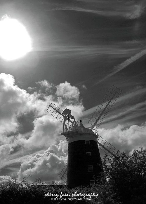 Norfolk Greeting Card featuring the photograph Windy Mill by Sherry Fain