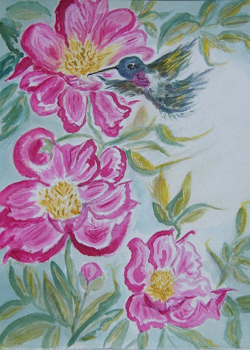 Birds Greeting Card featuring the painting Windy Reach by Margaret G Calenda