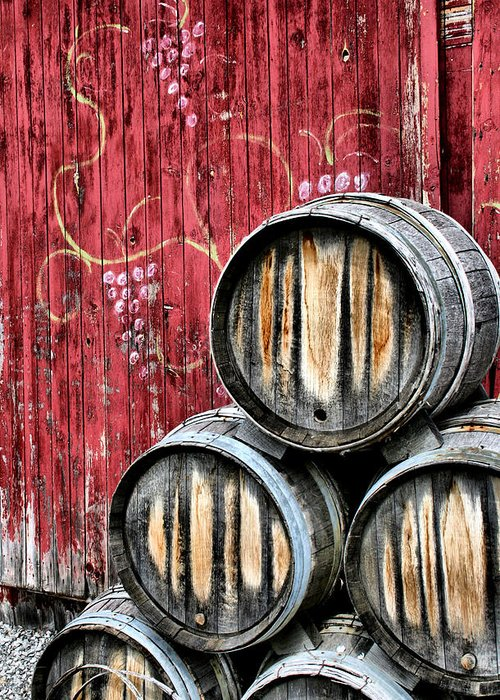 Old Barrels Greeting Cards