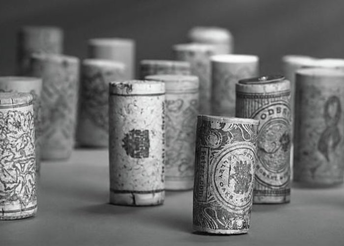 Wine Cork Collection Greeting Cards