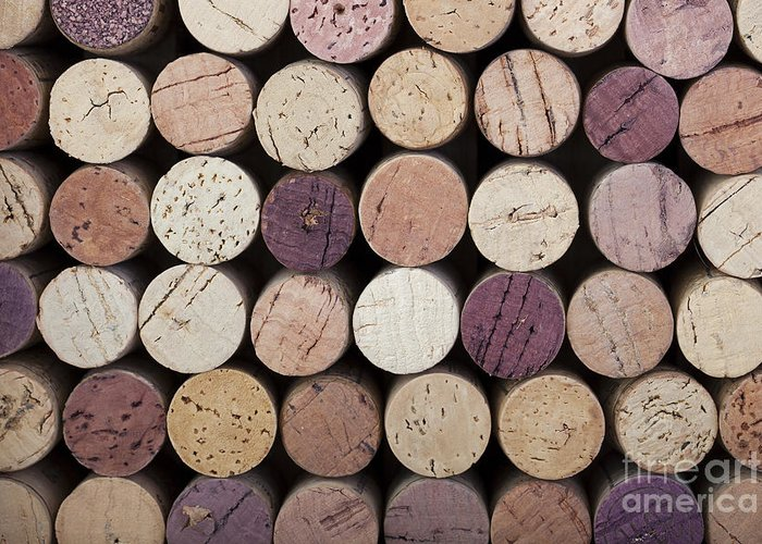 Alcohol Greeting Card featuring the photograph Wine Corks by Jane Rix