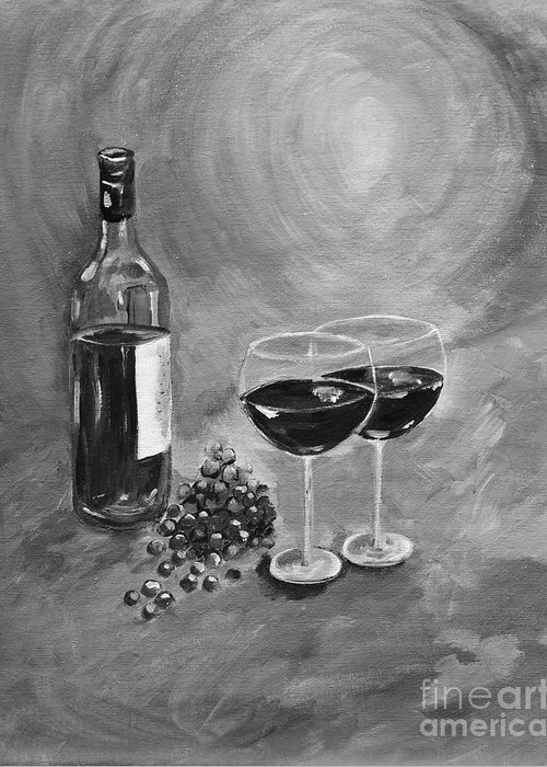 Images Of Wine Bottles Paintings Greeting Cards