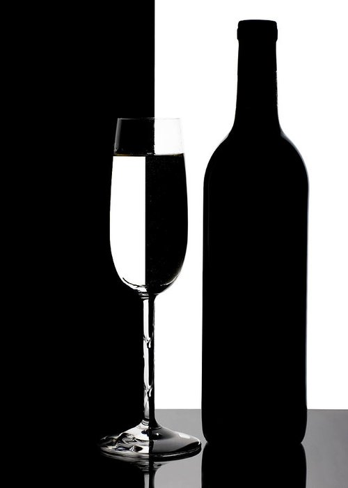 Wine Greeting Card featuring the photograph Wine Silhouette by Tom Mc Nemar