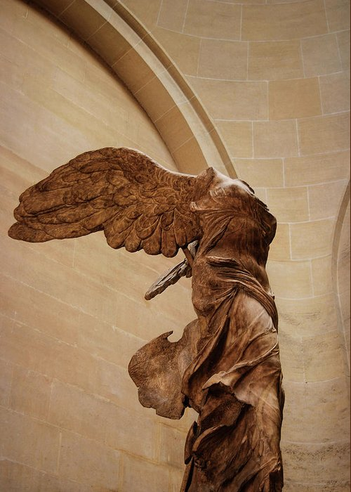 Winged Greeting Card featuring the photograph Winged Victory by JAMART Photography