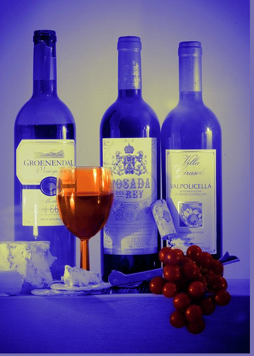 Bottles Greeting Card featuring the photograph Winsome Wine by Donald Davis