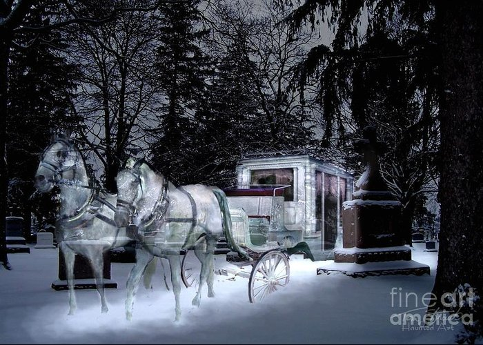 Paranormal Greeting Card featuring the photograph Winter Departure  by Tom Straub