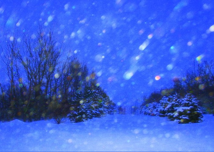 Landscape Greeting Card featuring the photograph Winter Diamonds by Julie Lueders