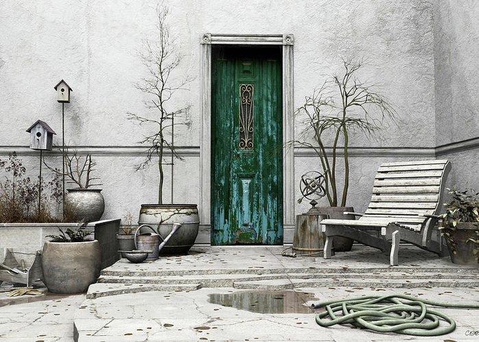 Garden Greeting Card featuring the digital art Winter Garden by Cynthia Decker