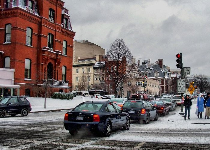 Winter Greeting Card featuring the photograph Winter In D.c. by Jimmy Ostgard