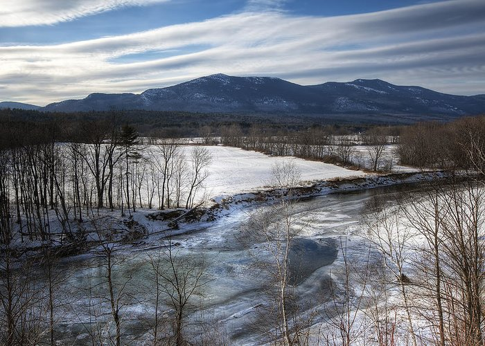 North Conway Greeting Card featuring the photograph Winter In North Conway by Eric Gendron
