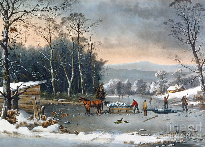 Pub. By Currier And Ives Greeting Cards