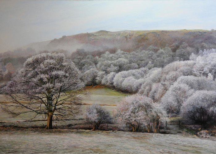 Landscape Greeting Card featuring the painting Winter Landscape by Harry Robertson