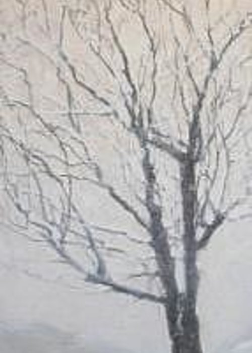 Tree Greeting Card featuring the painting Winter by Leah Tomaino