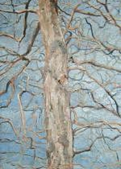 Tree Greeting Card featuring the painting Winter Morning by Leah Tomaino
