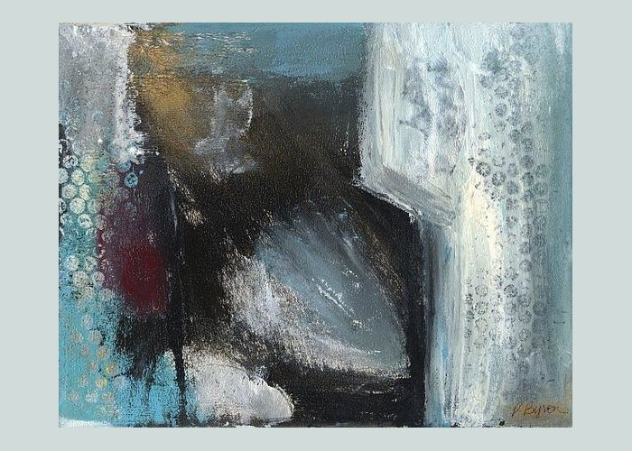 Abstract Greeting Card featuring the painting Winter of the Heart 1 by Patricia Byron