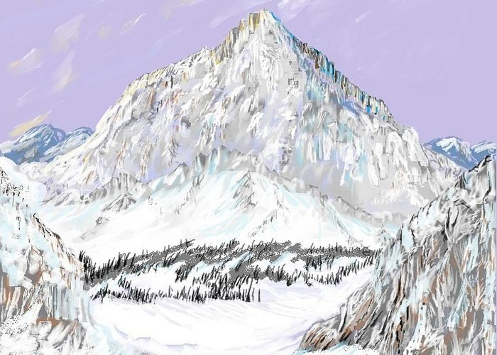 Winter Greeting Card featuring the digital art Winter by Patricia Hengeveld