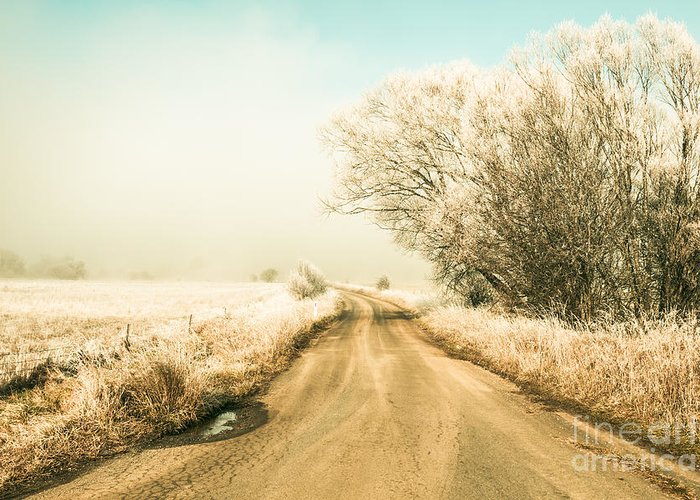Winter Greeting Card featuring the photograph Winter Road Wonderland by Jorgo Photography - Wall Art Gallery