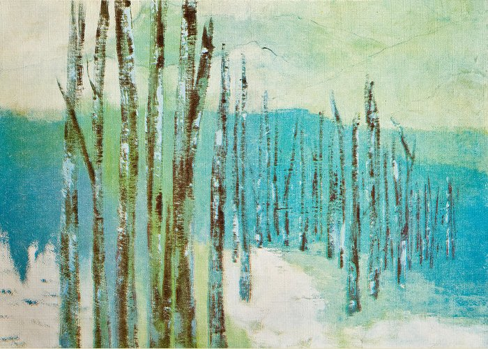 Winter Scene Greeting Card featuring the greeting card Winter Scene by Thelma Goodich