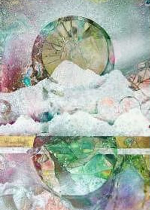 Abstract Greeting Card featuring the painting Winter Solstice by Marlene Gremillion