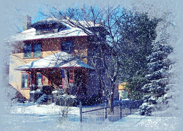 House Greeting Card featuring the photograph Winter Wonderland by Martin Morehead