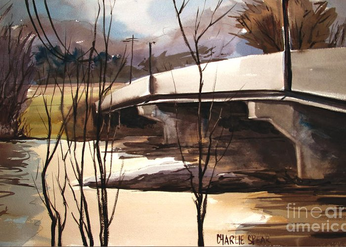 River Flooding Paintings Greeting Cards