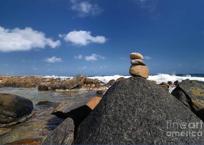 Aruba Greeting Card featuring the photograph Wishing Rocks Aruba by Amy Cicconi