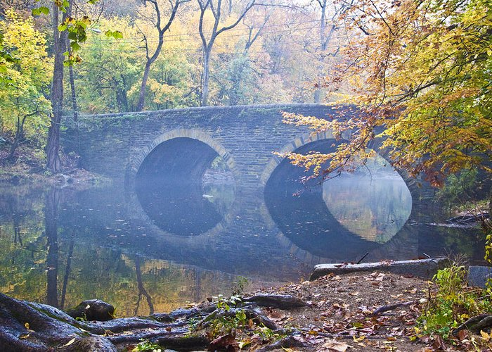 Wissahickon Greeting Card featuring the photograph Wissahickon Creek At Bells Mill Rd. by Bill Cannon