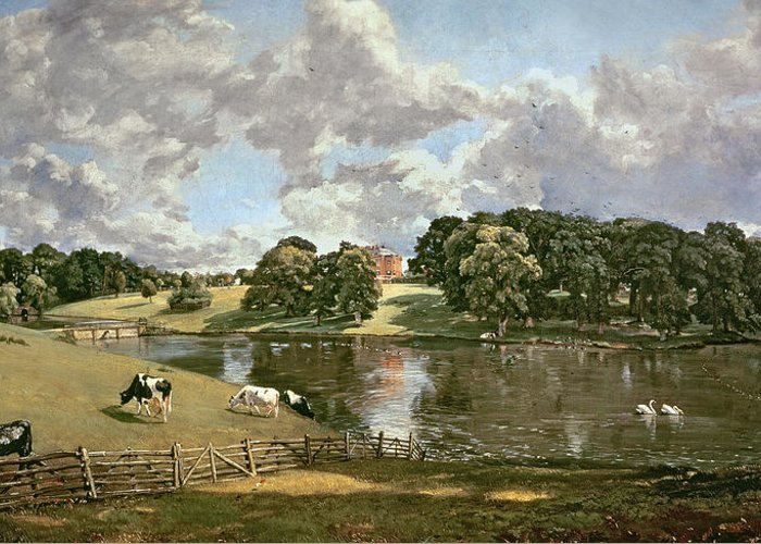 Wivenhoe Greeting Card featuring the painting Wivenhoe Park by John Constable