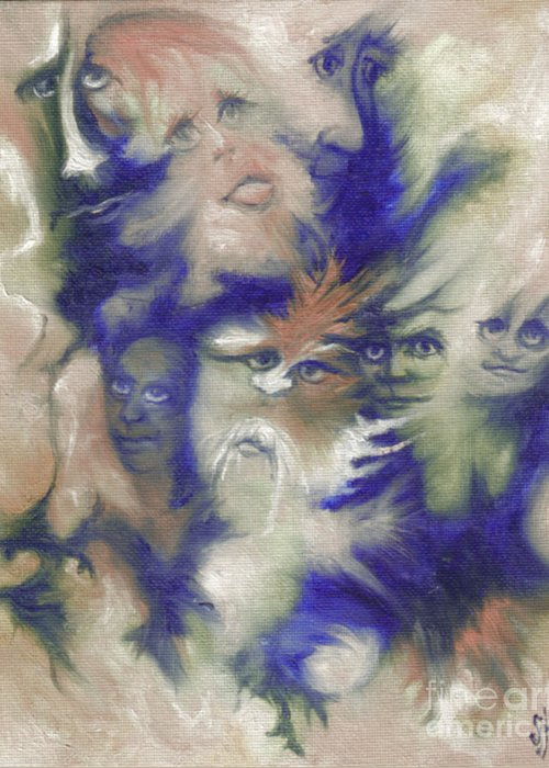 Mystical Greeting Card featuring the painting Wizard's Dream by Stephanie H Johnson