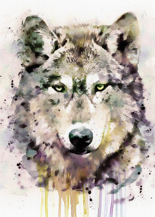 Wolf Head Greeting Cards