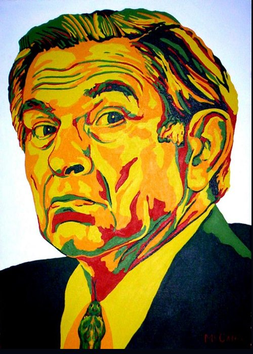 Politics Greeting Card featuring the painting Wolfowitz by Dennis McCann