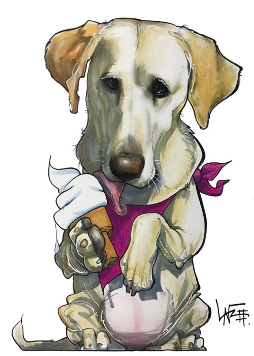 Pet Portrait Greeting Card featuring the drawing Womack 3291 Trina-k by John LaFree