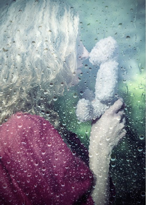 Woman Greeting Card featuring the photograph Woman And Teddy by Joana Kruse