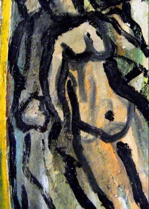 Women Greeting Card featuring the painting Women And Men by Angelina Marino