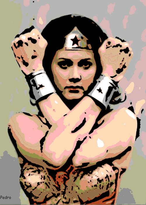 Wonder Woman Greeting Card featuring the photograph Wonder Woman by George Pedro