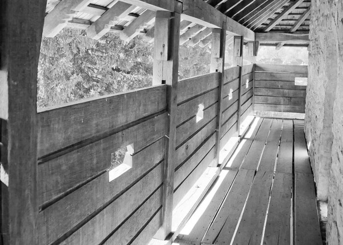 Balcony Greeting Card featuring the photograph Wooden Balcony by Gabriela Insuratelu