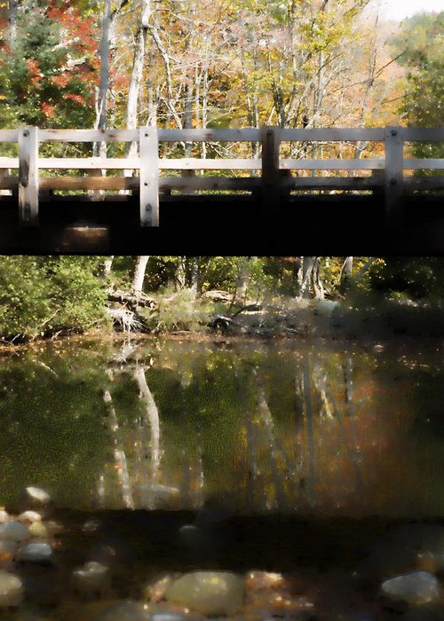 Stream Greeting Card featuring the photograph Wooden Bridge by Rockstar Artworks