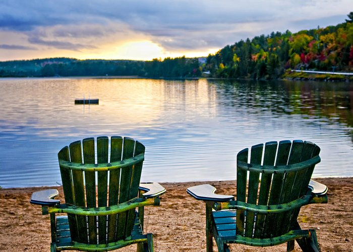 Cottage Chairs Greeting Cards