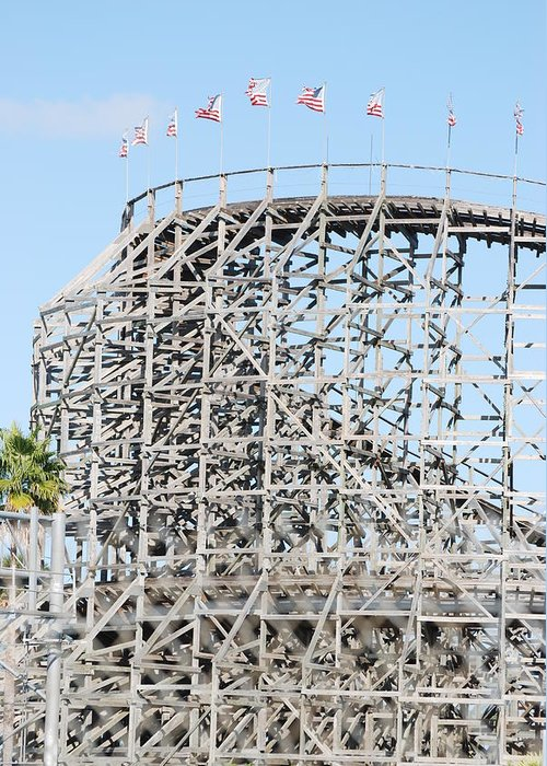 Pop Art Greeting Card featuring the photograph Wooden Coaster by Rob Hans