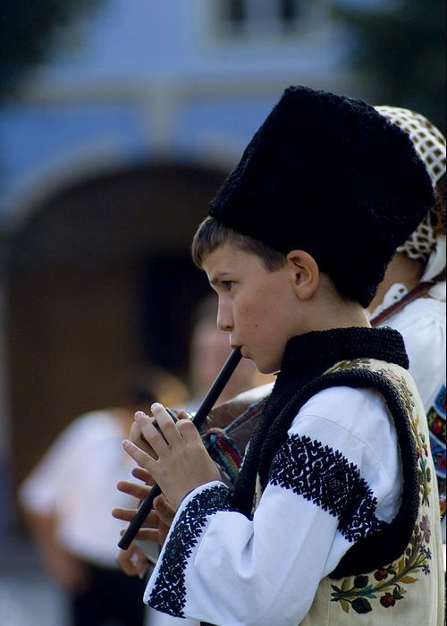 Wooden Flute Greeting Card featuring the photograph Wooden flute by Adrian Bud