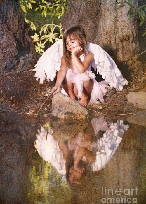 Fairy Greeting Card featuring the photograph Woodland Fairy by Cindy Singleton