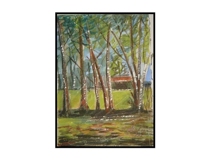 Nature Virginia Woods Greeting Card featuring the greeting card Woodland Series Virginia by Angela Puglisi