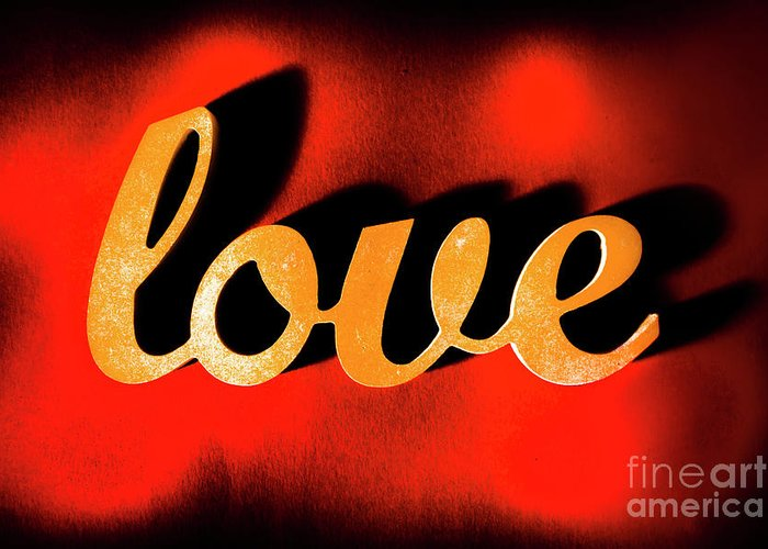 Retro Greeting Card featuring the photograph Words Of Love And Retro Romance by Jorgo Photography - Wall Art Gallery