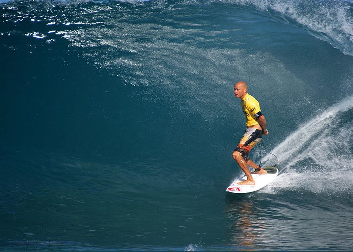 Kelly Slater Greeting Card featuring the photograph World Champion X11 by Kevin Smith