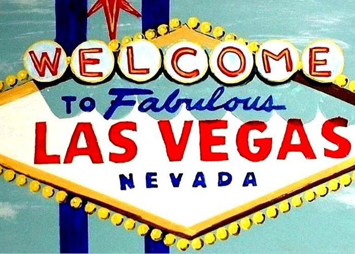 World famous las vegas sign daytime greeting card for sale by teo las vegas greeting card featuring the painting world famous las vegas sign daytime by teo alfonso m4hsunfo