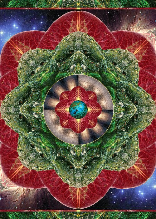 Yoga Greeting Card featuring the photograph World-healer by Bell And Todd