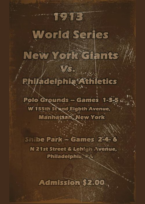 World Series Greeting Card featuring the digital art World Series 1913 by David Dehner