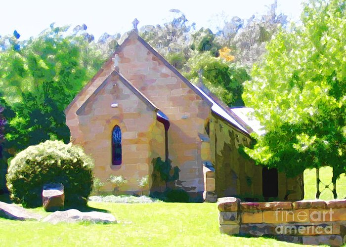 Worship Greeting Card featuring the photograph Worship In Wollombi by Steve C Heckman